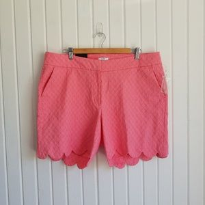 Crown & Ivy Pink Scalloped Shorts Size 16W